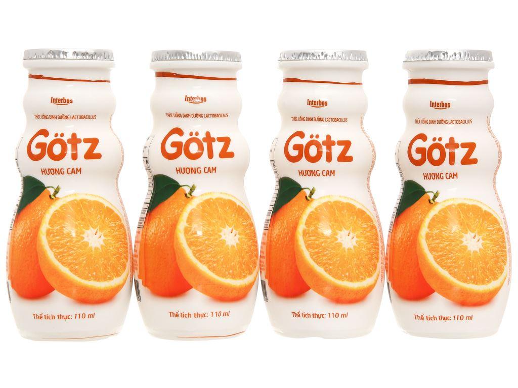 4 chai thức uống dinh dưỡng từ sữa Gotz hương cam 110ml 2