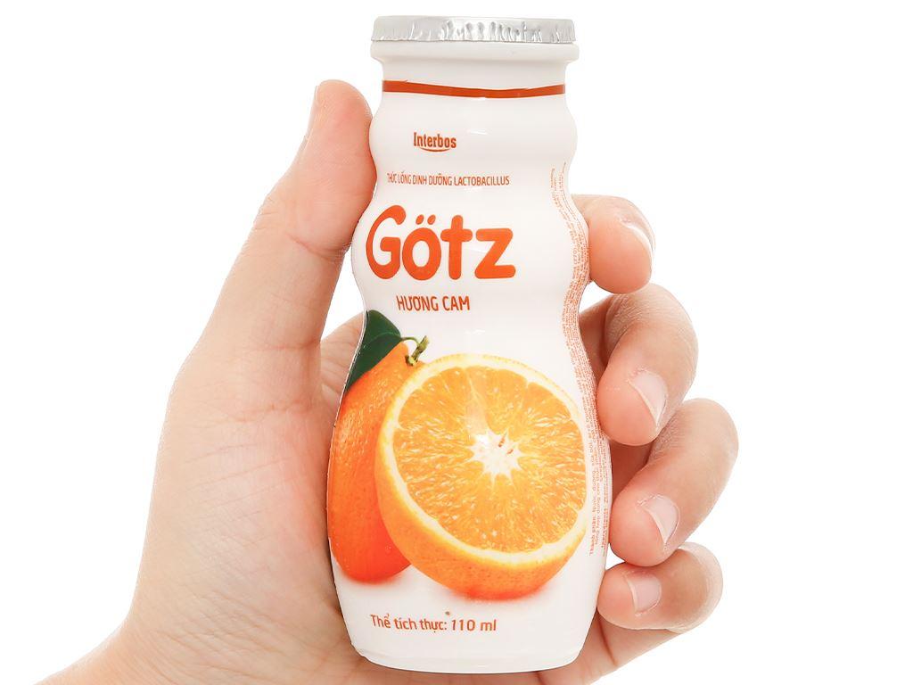 4 chai thức uống dinh dưỡng từ sữa Gotz hương cam 110ml 9