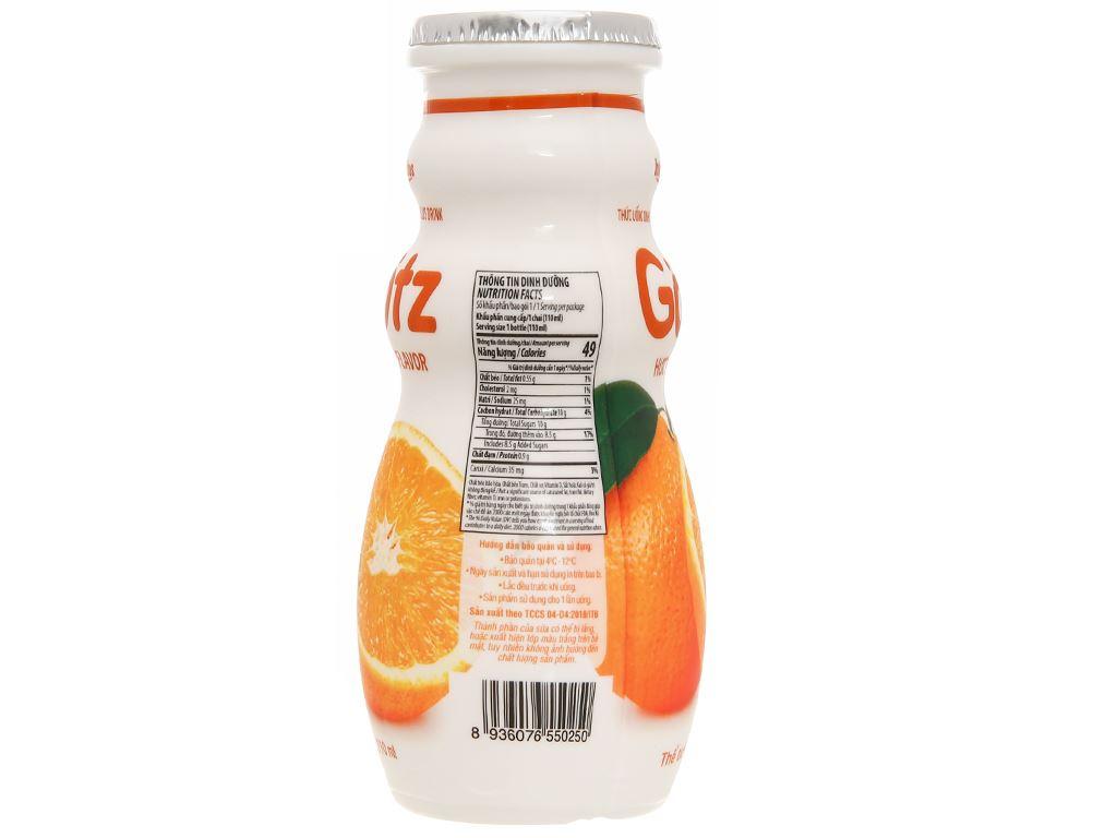 4 chai thức uống dinh dưỡng từ sữa Gotz hương cam 110ml 7