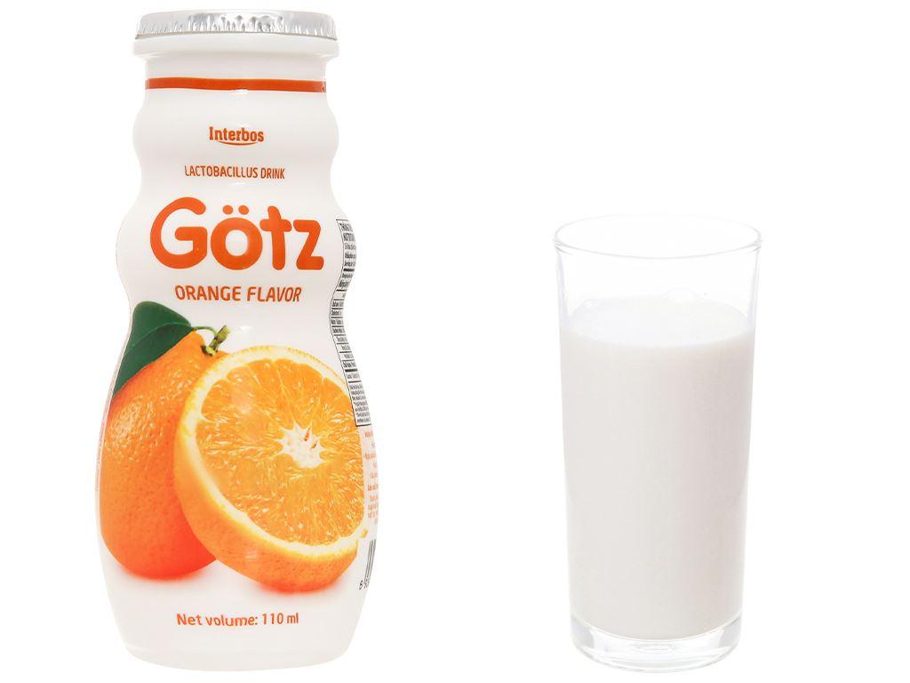 4 chai thức uống dinh dưỡng từ sữa Gotz hương cam 110ml 10