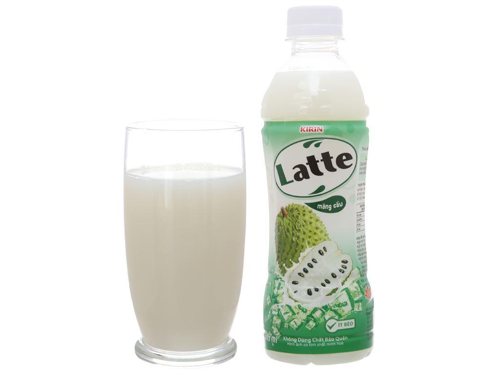 Thức uống thiên nhiên pha sữa Latte mãng cầu 345ml 11