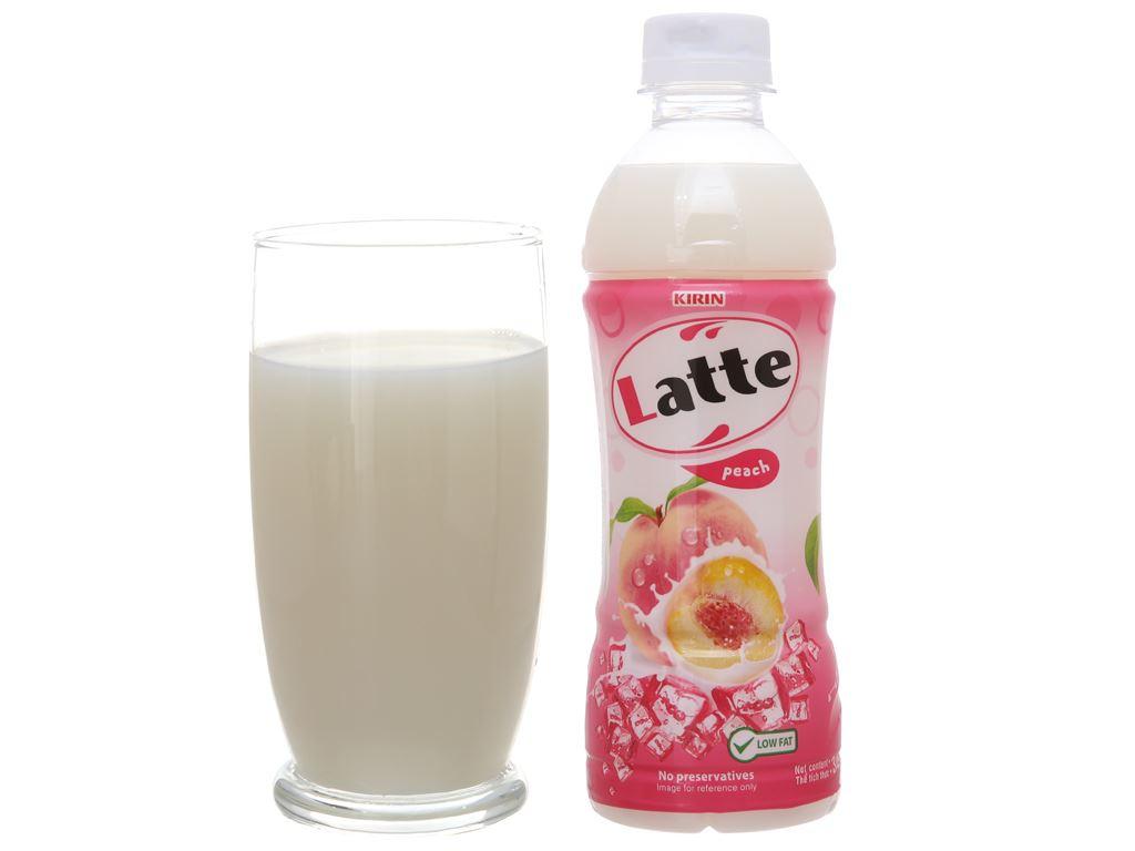 Thức uống thiên nhiên pha sữa Latte đào 345ml 11