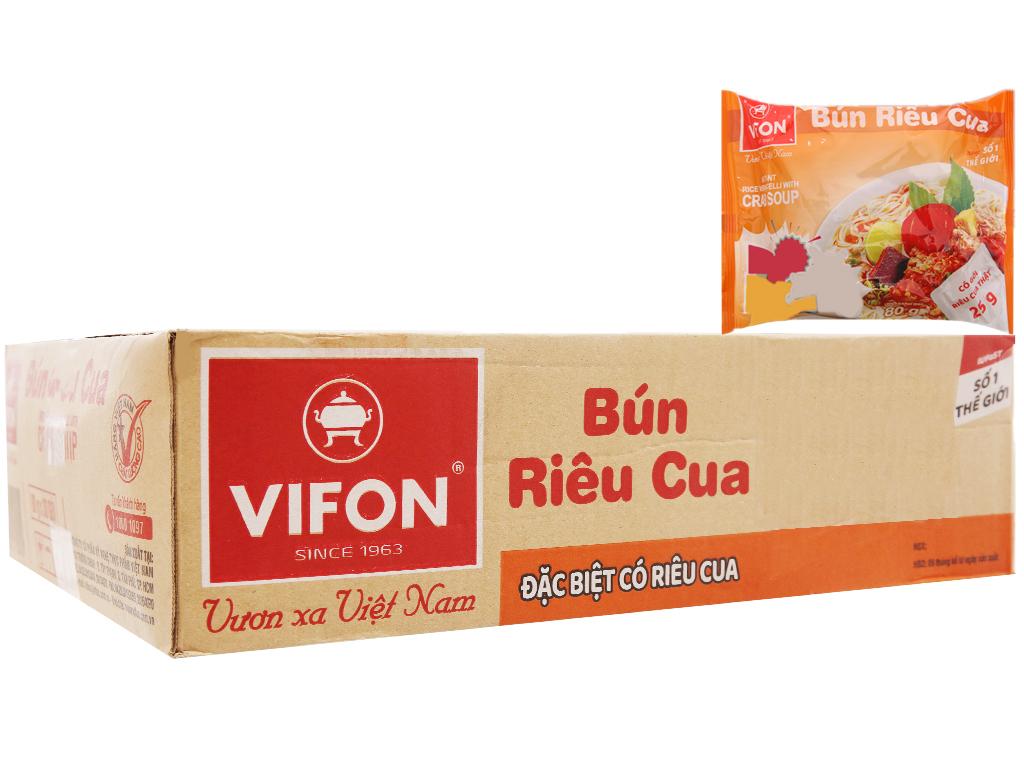Thùng 30 gói bún riêu cua Vifon 80g 2