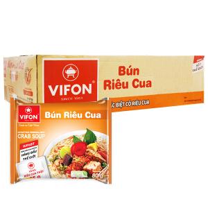 Thùng 30 gói bún riêu cua Vifon 80g (có gói riêu cua thật)
