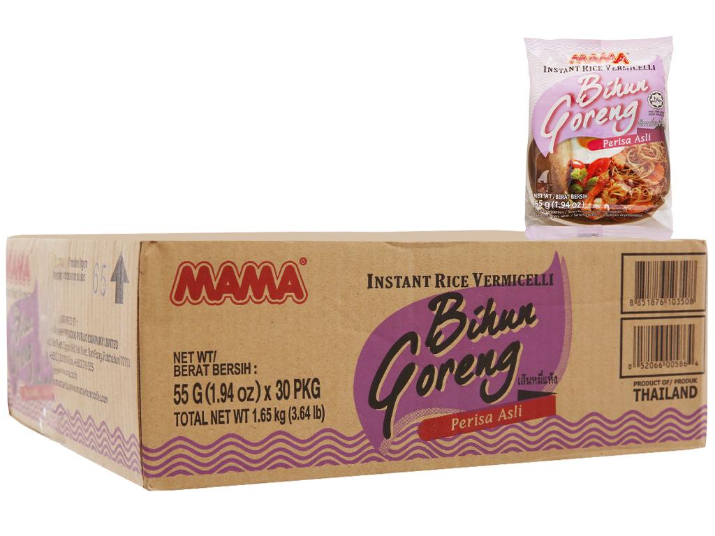 Thùng 30 gói Bún gạo khô ăn liền Bihun Goreng Mama 55g 2