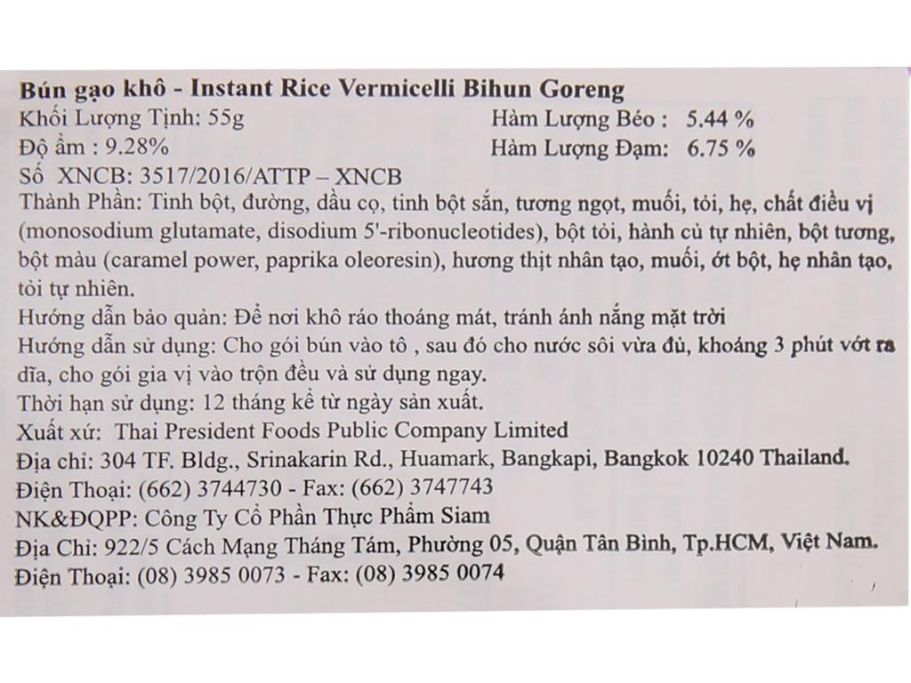 Thùng 30 gói Bún gạo khô ăn liền Bihun Goreng Mama 55g 5