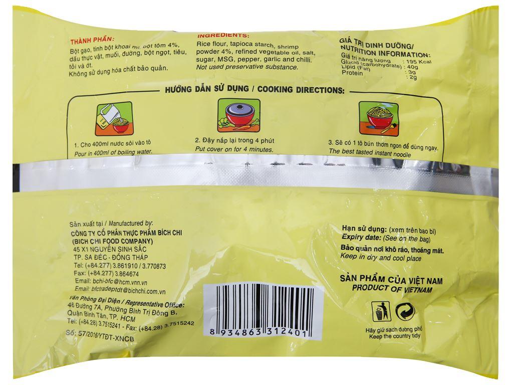 Thùng 30 gói bún tôm Thái Vina Bích Chi 60g 3