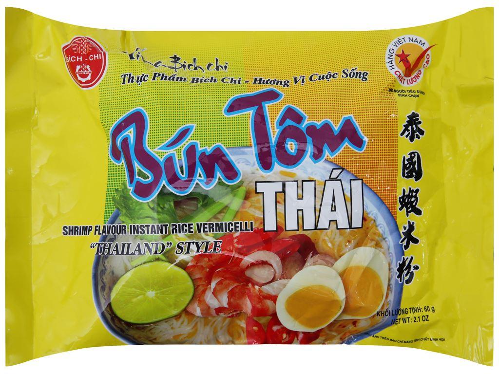 Thùng 30 gói bún tôm Thái Vina Bích Chi 60g 2