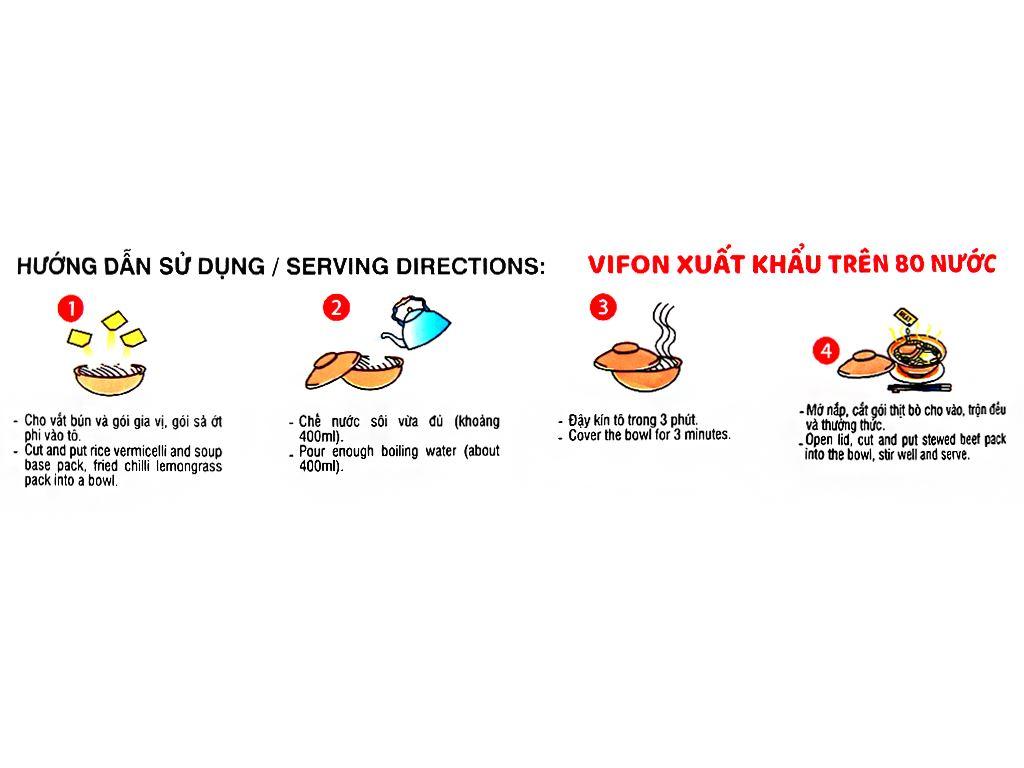 Thùng 18 gói bún bò Huế Vifon Hoàng Gia 120g (có gói thịt thật) 7