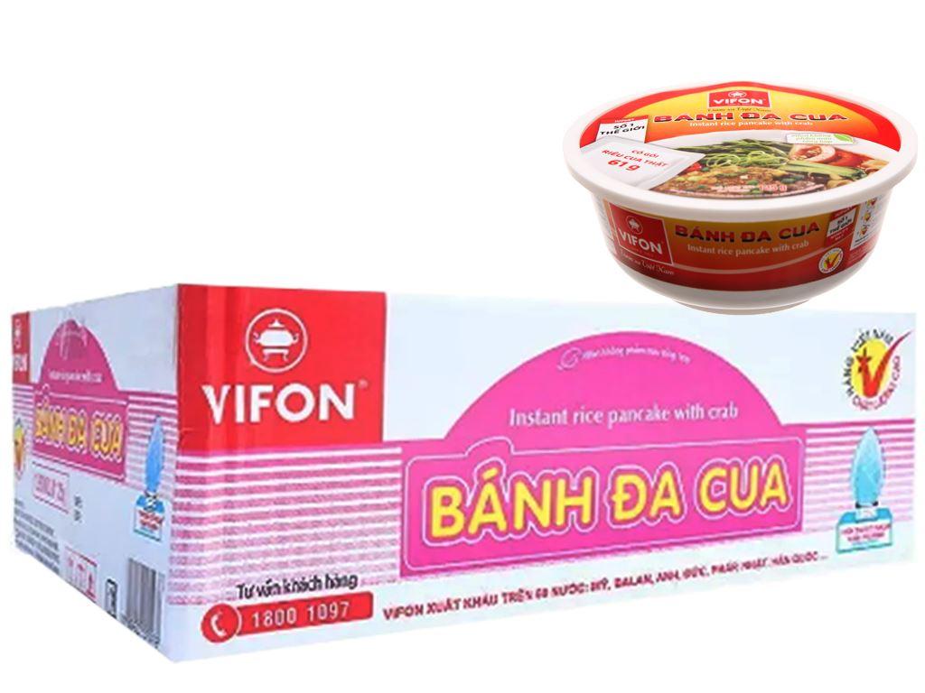Thùng 12 tô bánh đa cua Vifon 125g (có gói riêu cua thật) 1