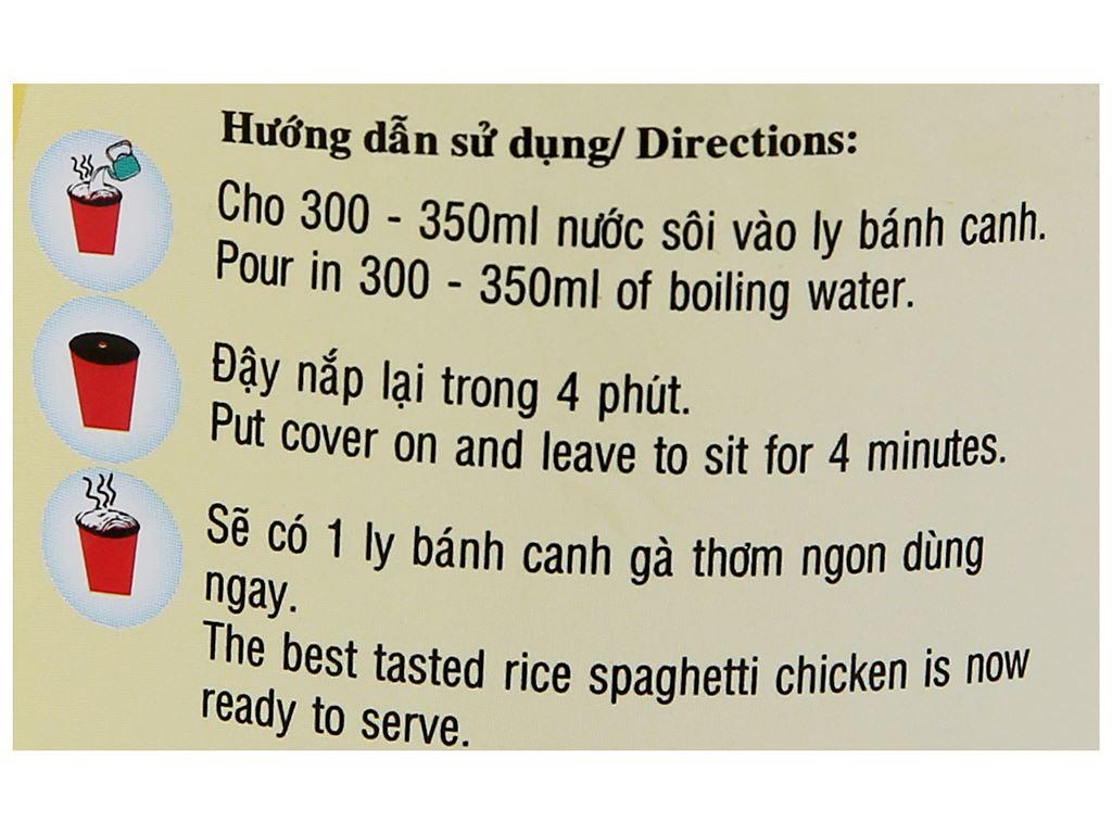 Bánh canh gà Bích Chi ly 50g 6