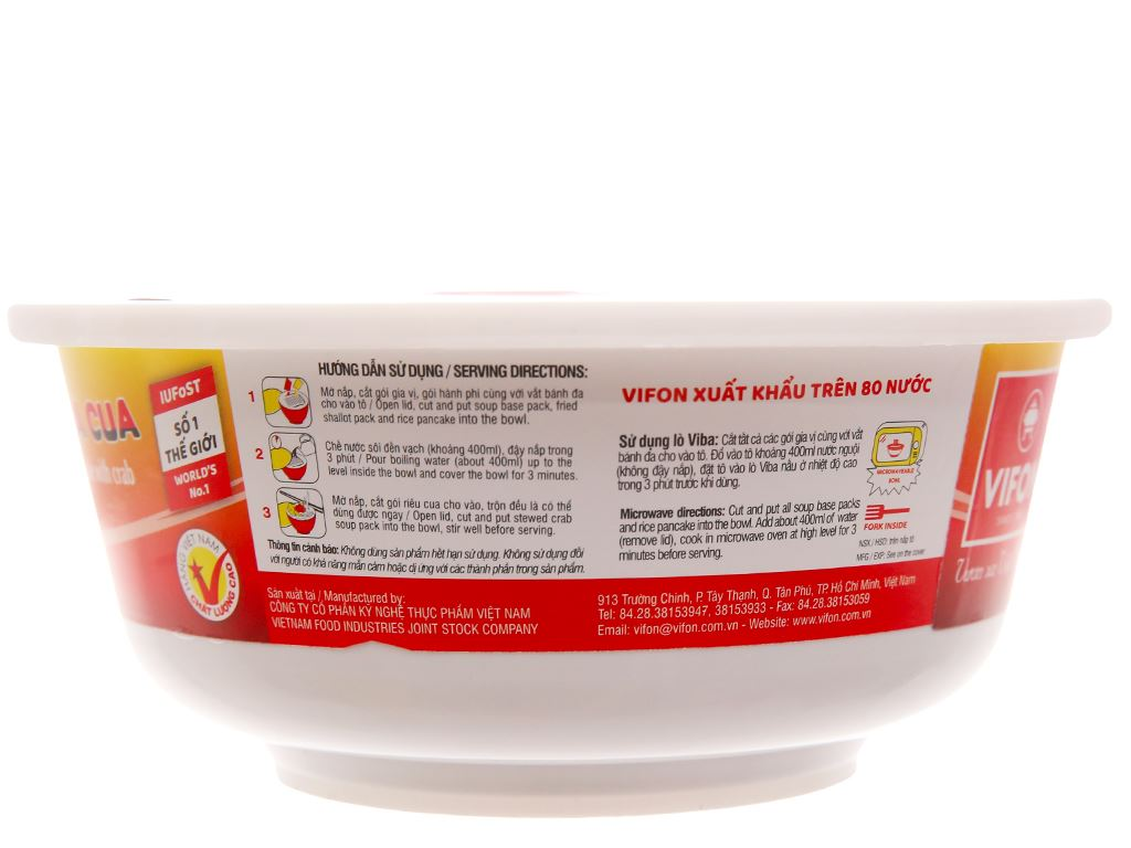 Bánh đa cua Vifon tô 125g (có gói riêu cua thật) 3