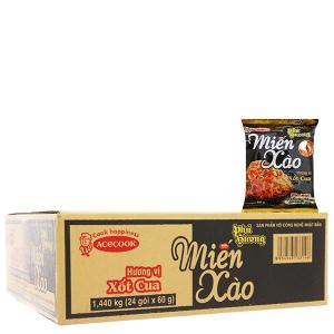Thùng 24 gói miến xào xốt cua Phú Hương 60g