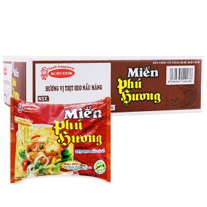 Thùng 24 gói miến Phú Hương thịt heo nấu măng 57g
