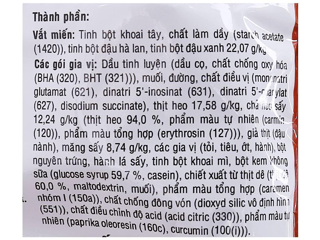 Thùng 30 gói miến thịt heo nấu măng Phú Hương 57g 4
