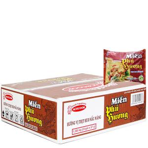 Thùng 30 gói miến thịt heo nấu măng Phú Hương 57g