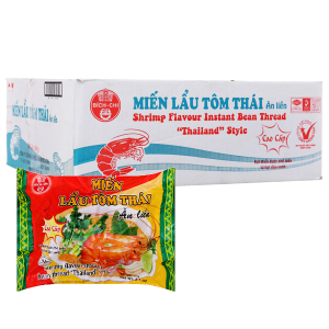 Thùng 30 gói miến Bích Chi vị lẩu tôm Thái 60g
