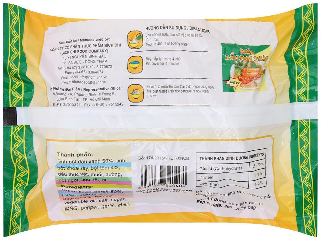 Thùng 30 gói miến lẩu tôm Thái Bích Chi 60g 4