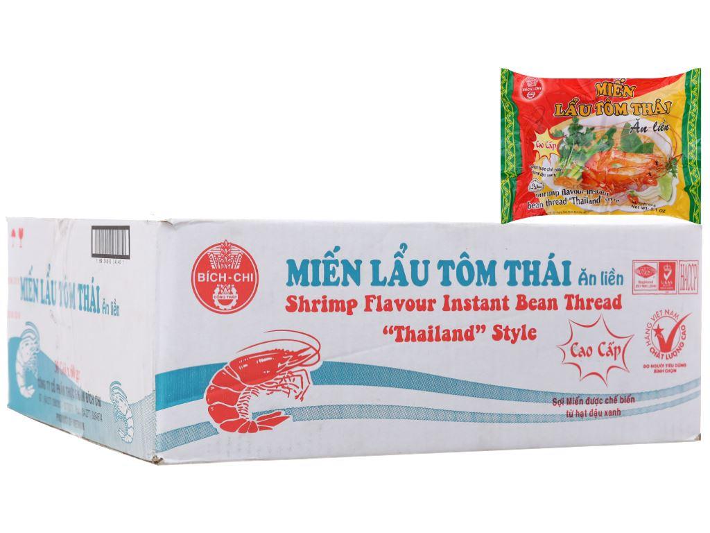 Thùng 30 gói miến lẩu tôm Thái Bích Chi 60g 2