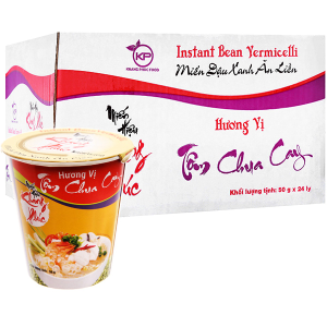 Thùng 24 ly miến tôm chua cay Khang Phúc 50g