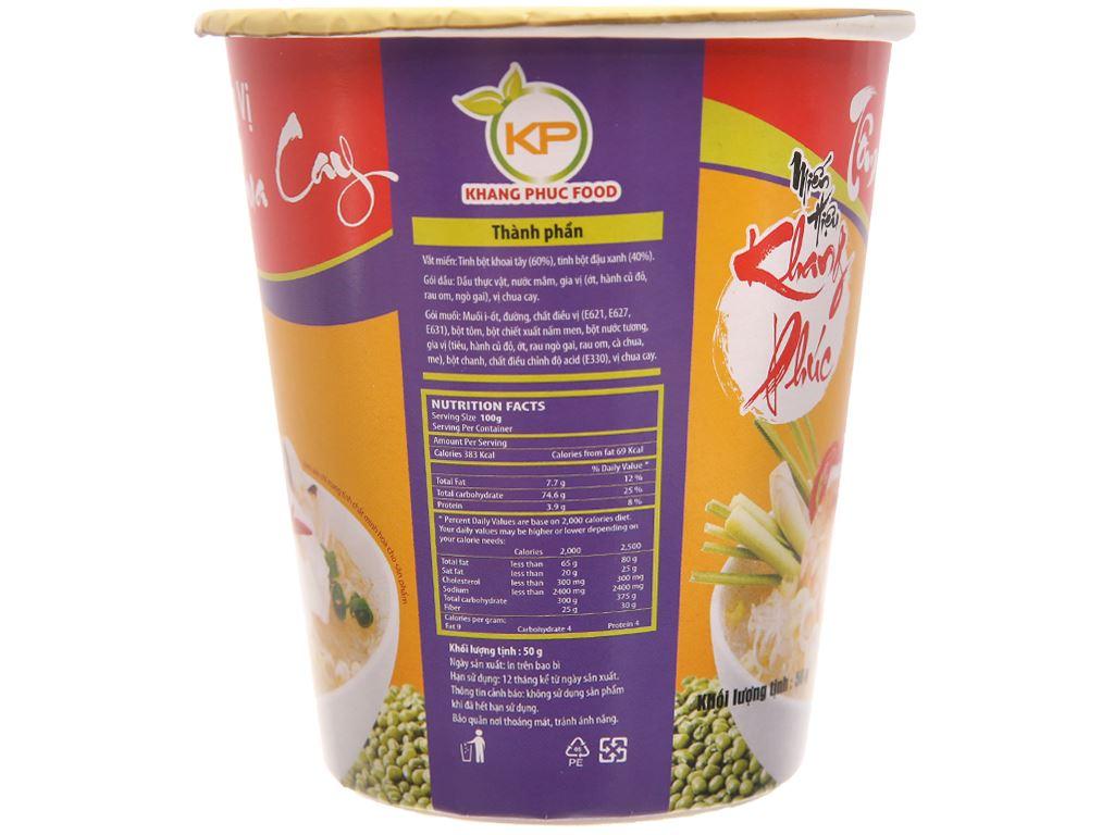 Thùng 24 ly miến tôm chua cay Khang Phúc 50g 3