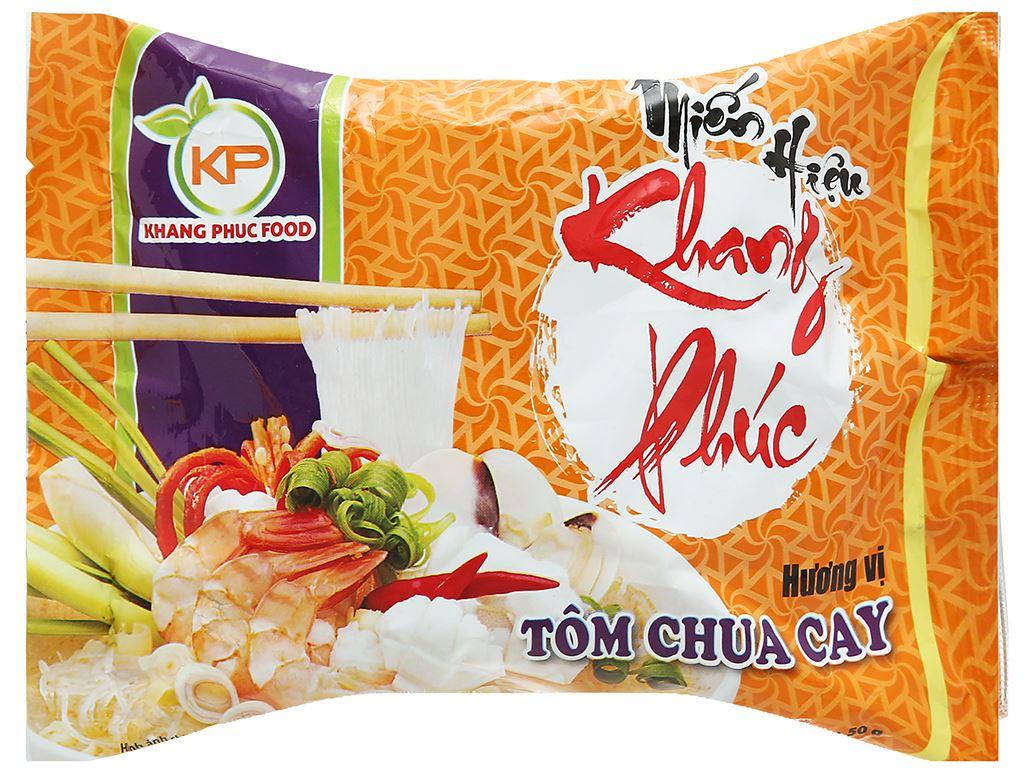 Thùng 24 gói miến hiệu Khang Phúc hương vị tôm chua cay 50g 2