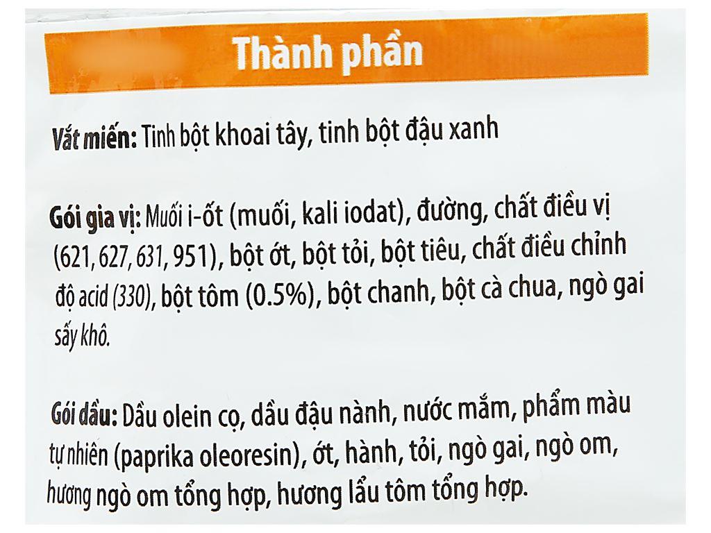 Thùng 24 gói miến hiệu Khang Phúc hương vị tôm chua cay 50g 4