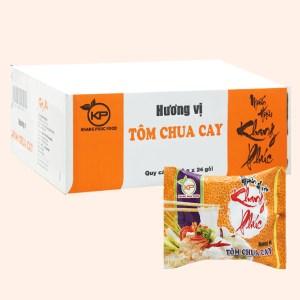 Thùng 24 gói miến hiệu Khang Phúc hương vị tôm chua cay 50g