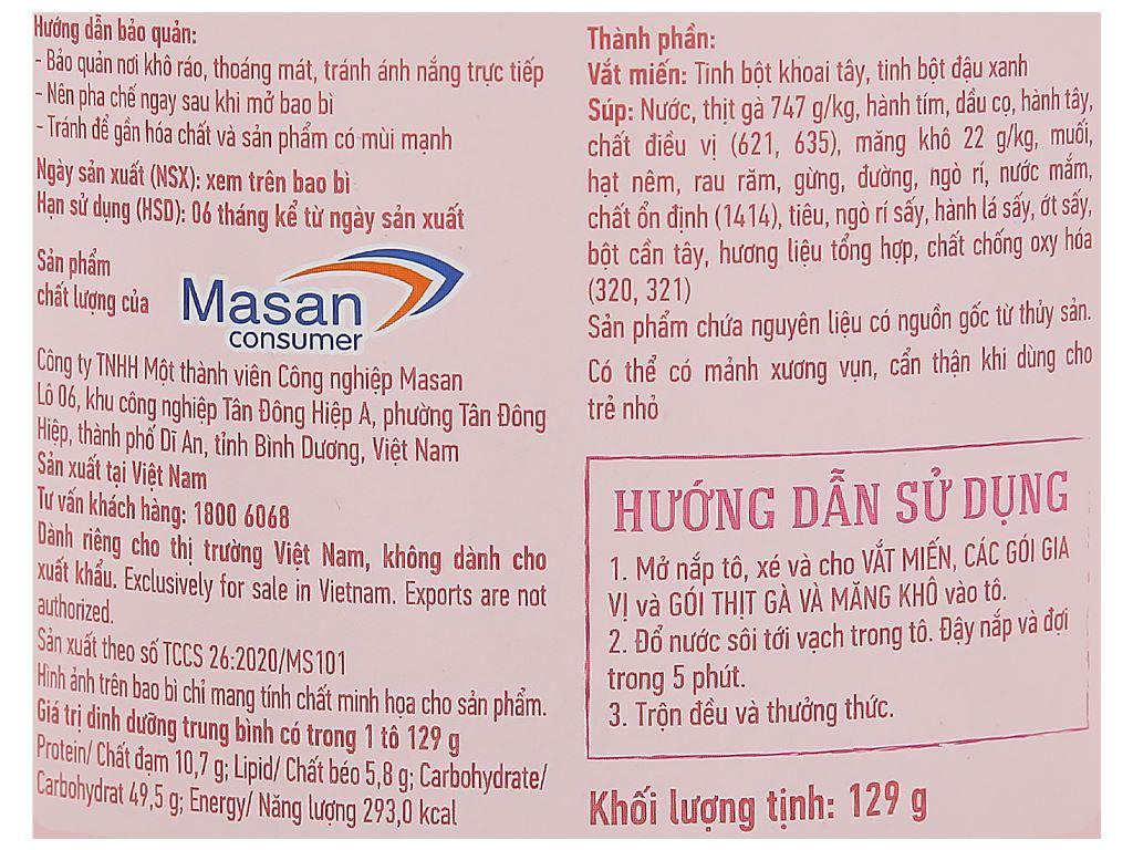 Miến gà hầm măng Chin-su tô 129g 4