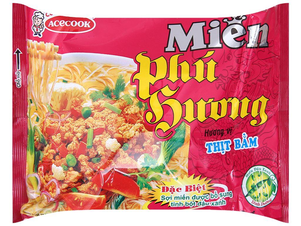 Thùng 24 gói miến Phú Hương thịt bằm 58g 3