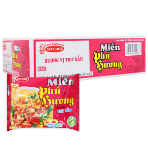 Thùng 24 gói miến Phú Hương thịt bằm 58g