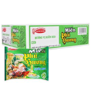 Thùng 24 gói miến Phú Hương sườn heo 58g