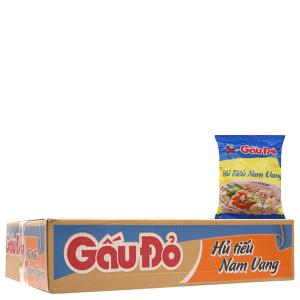 Thùng 30 gói Hủ tiếu Nam Vang ăn liền Gấu Đỏ 65g
