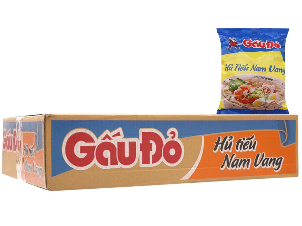 Thùng 30 gói Hủ tiếu Nam Vang ăn liền Gấu Đỏ 65g 1