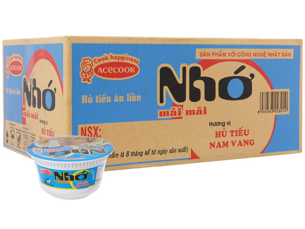 Thùng 12 tô Hủ tiếu Nam Vang ăn liền Nhớ mãi mãi 71g 2