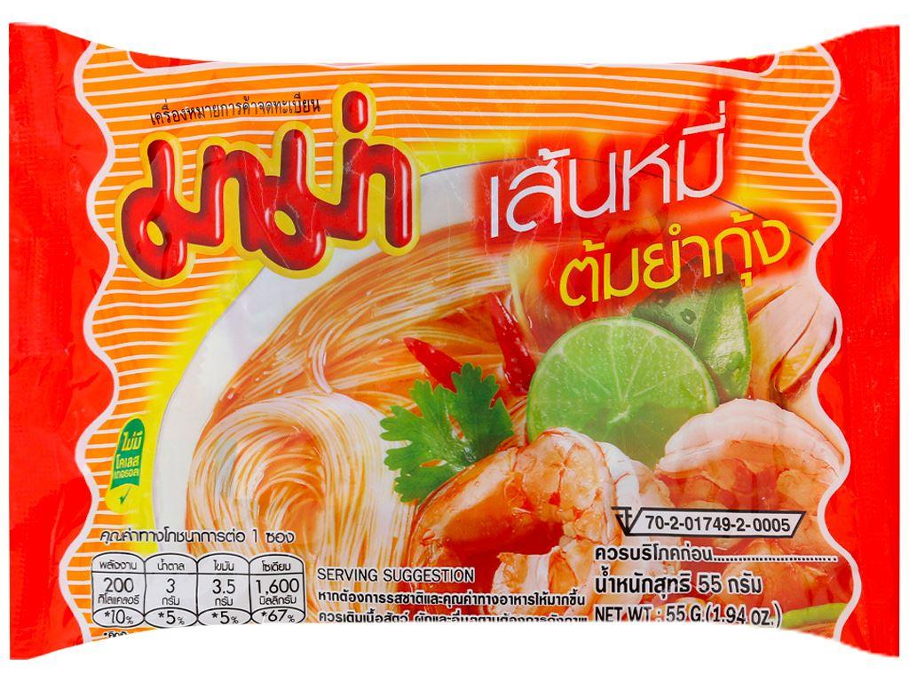 Hủ tiếu hải sản Tomyum ăn liền Mama gói 55g 1