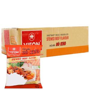 Thùng 30 gói Hủ tiếu bò kho ăn liền Vifon 65g