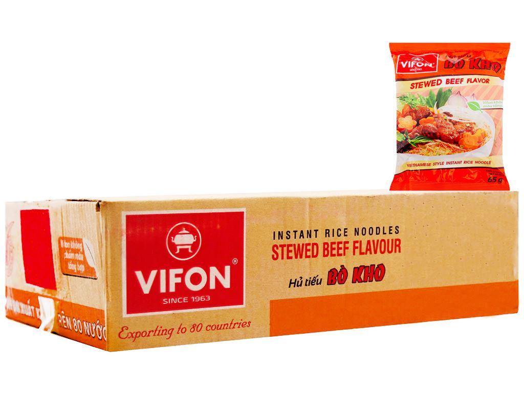 Thùng 30 gói hủ tiếu bò kho Vifon 65g 2