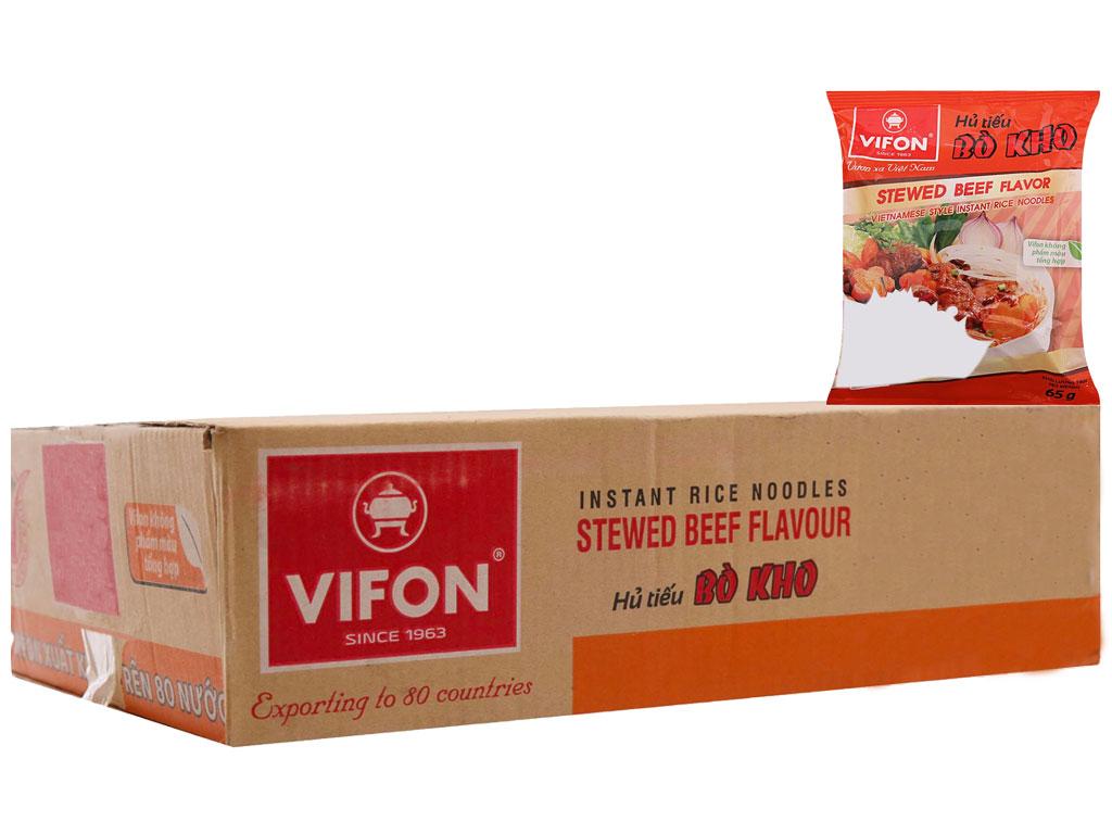 Thùng 30 gói Hủ tiếu bò kho ăn liền Vifon 65g 2