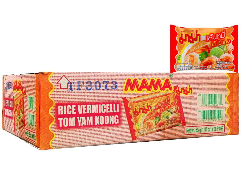 Thùng 30 gói hủ tiếu Mama hải sản Tomyum 55g 1