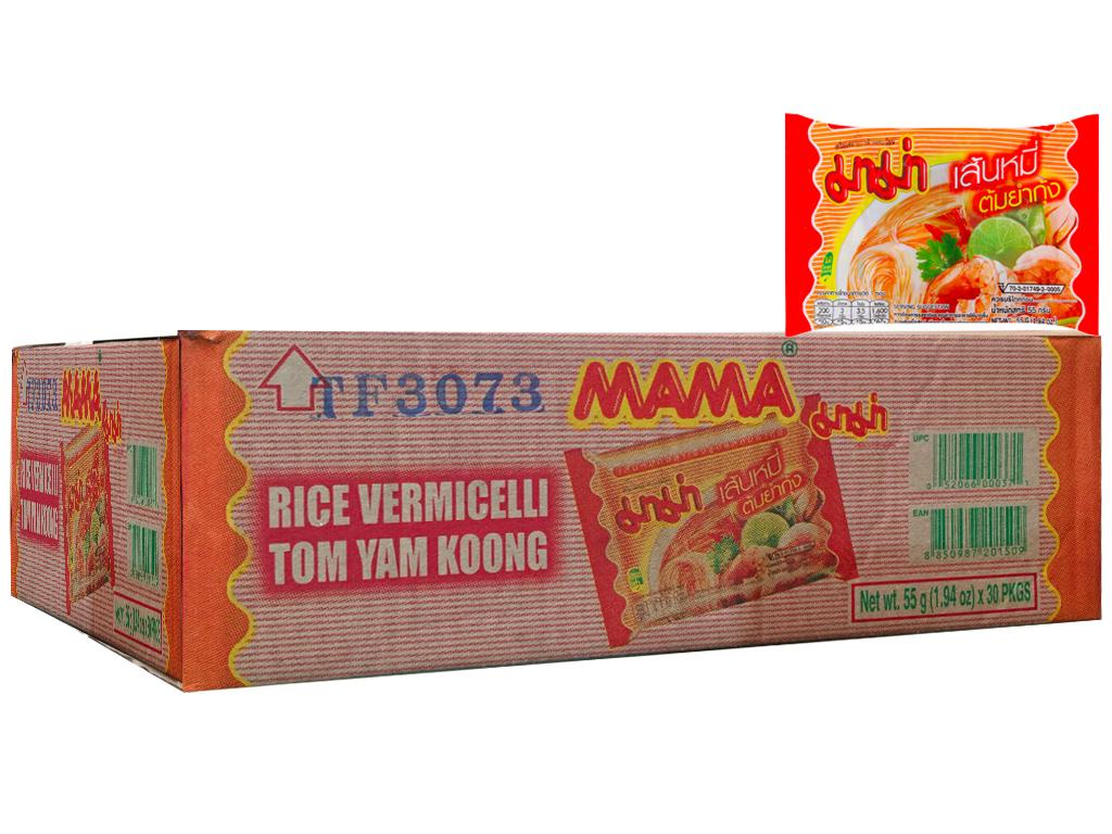 Thùng 30 gói Hủ tiếu hải sản Tomyum ăn liền Mama 55g 1