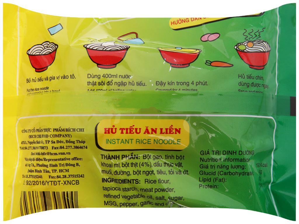 Thùng 30 gói Hủ tiếu chay ăn liền Đặc Biệt Bích Chi gói 60g 5