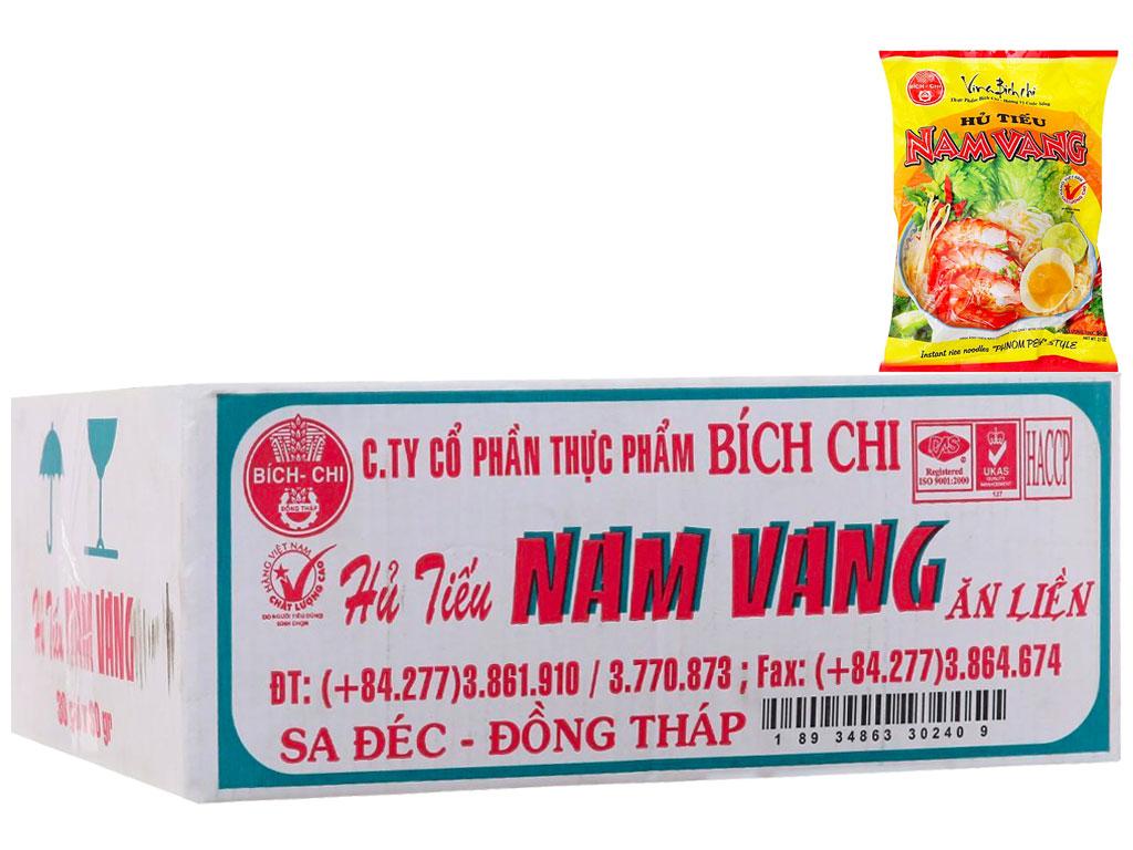 Thùng 30 gói Hủ tiếu Nam Vang ăn liền Bích Chi gói 60g 2