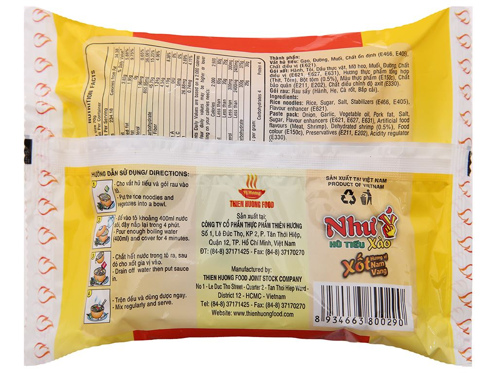 Thùng 30 gói Hủ tiếu xào xốt hương vị Nam Vang ăn liền Như Ý 70g 5