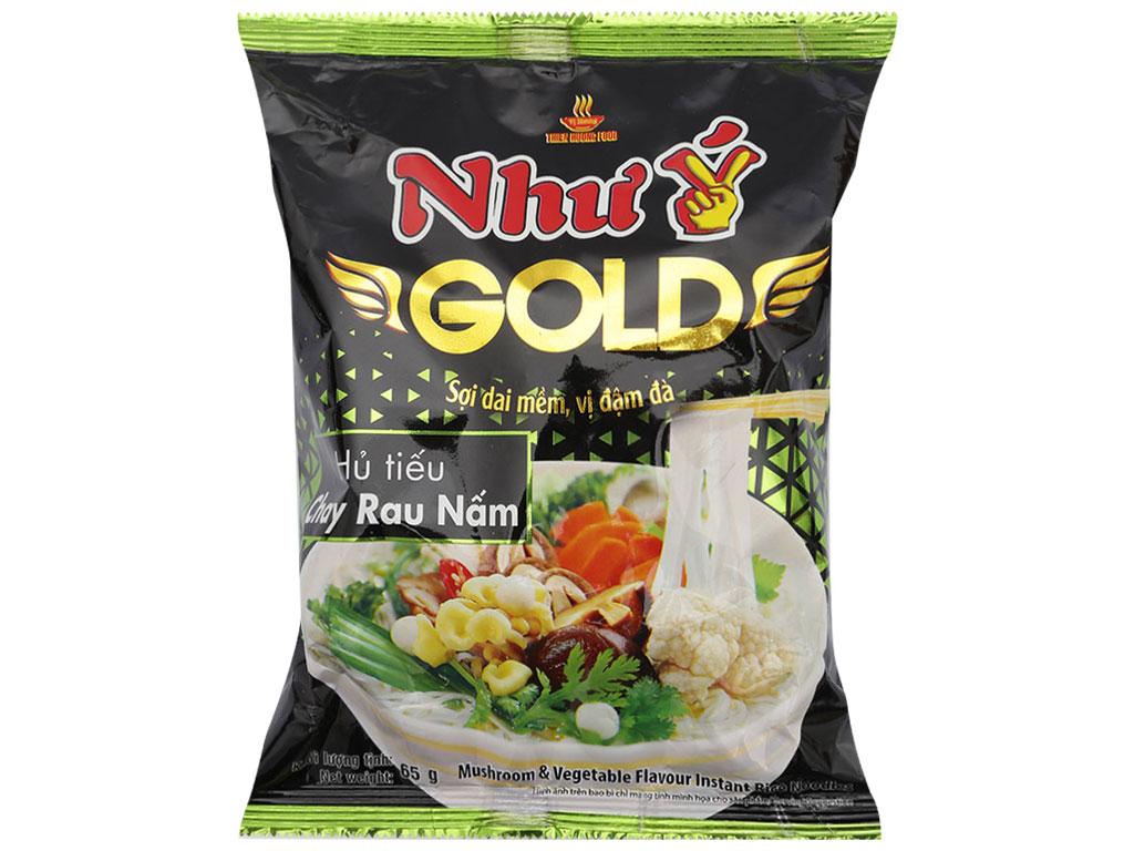 Thùng 30 gói Hủ tiếu chay rau nấm ăn liền Như Ý Gold 65g 2
