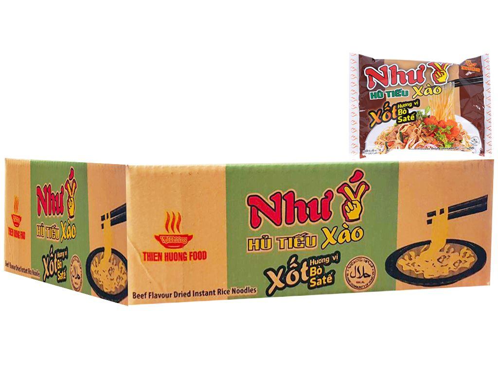 Thùng 30 gói Hủ tiếu xào xốt hương vị sa tế ăn liền Như Ý 70g 1