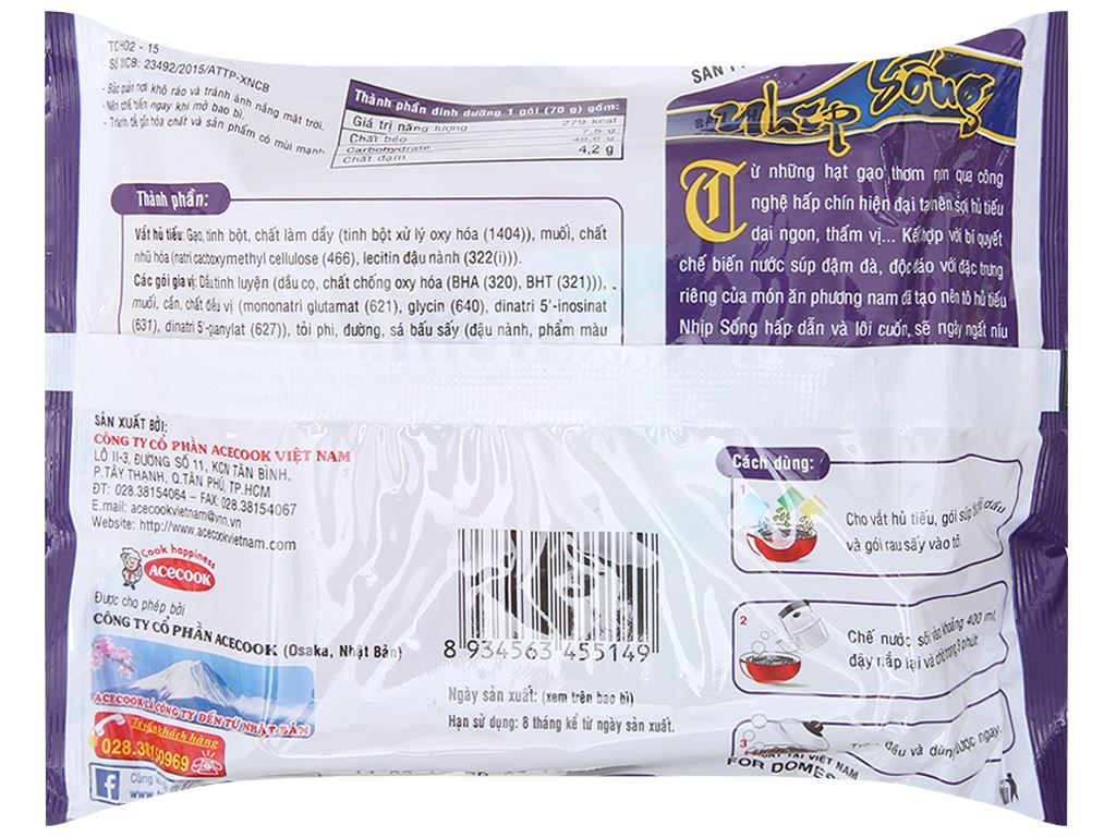 Hủ tiếu Nam Vang ăn liền Nhịp Sống gói 70g 4