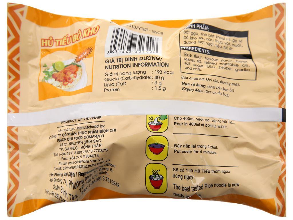 Hủ tiếu bò kho ăn liền Bích Chi gói 60g 2