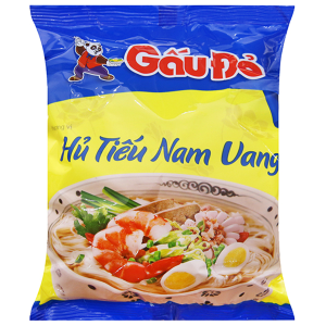 Hủ tiếu Nam Vang ăn liền Gấu Đỏ gói 65g