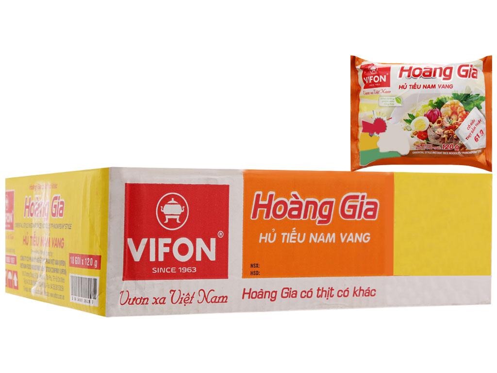 Thùng 18 gói Hủ tiếu Nam Vang ăn liền Vifon Hoàng Gia gói 120g 2